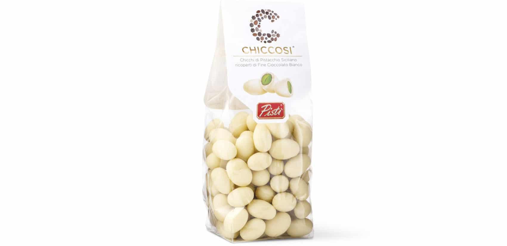 Sicīlijas pistācijas pārklātas ar balto šokolādi